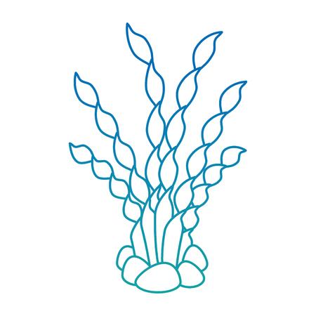 Ilustración de Aquarium decorative seaweed icon vector illustration design. - Imagen libre de derechos