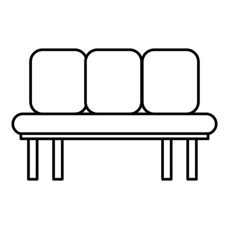 Ilustración de Sofa chair icon - Imagen libre de derechos