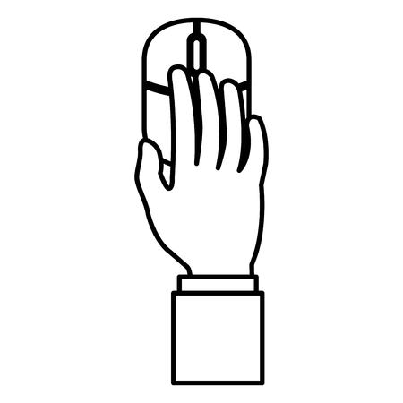 Illustration pour Hand using computer mouse icon - image libre de droit