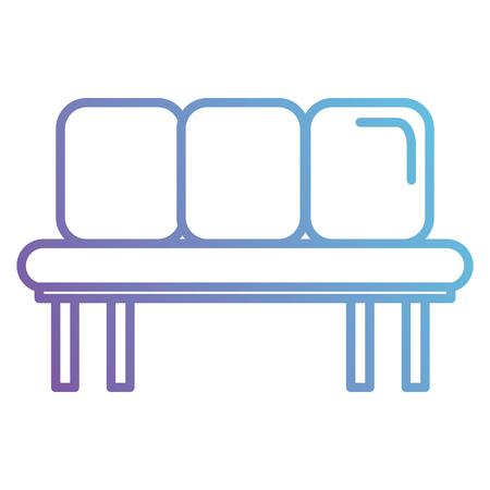 Ilustración de Waiting room chairs icon vector illustration design. - Imagen libre de derechos
