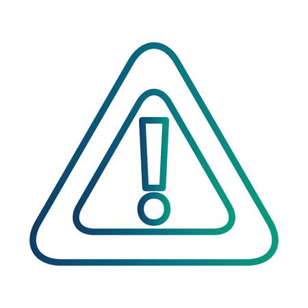 Ilustración de alert sign caution icon vector illustration design - Imagen libre de derechos
