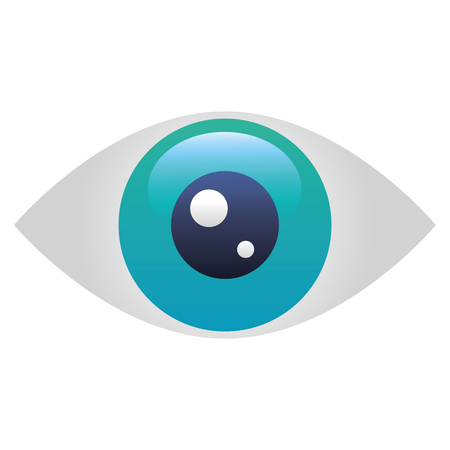 Illustration pour eye human isolated icon vector illustration design - image libre de droit