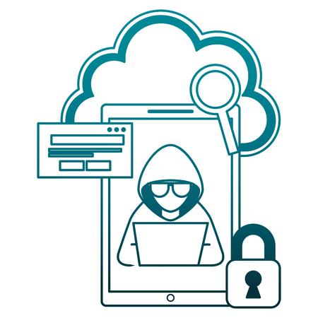 Illustrazione per computer virus collection icons vector illustration design - Immagini Royalty Free
