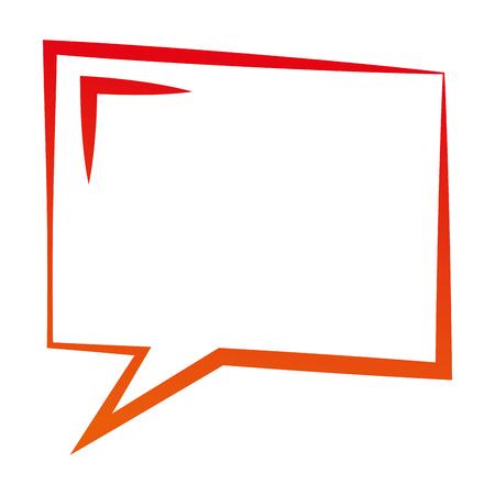 Ilustración de speech bubble dialog conversation talk vector illustration degraded color - Imagen libre de derechos