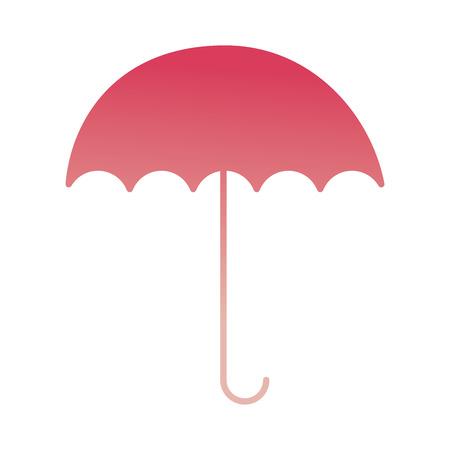 Ilustración de open umbrella protection weather image vector illustration degraded color - Imagen libre de derechos