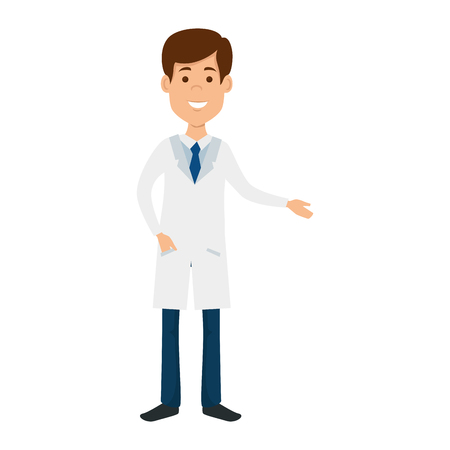 Illustration for doctor professional avatar character vector illustration design - Royalty Free Image