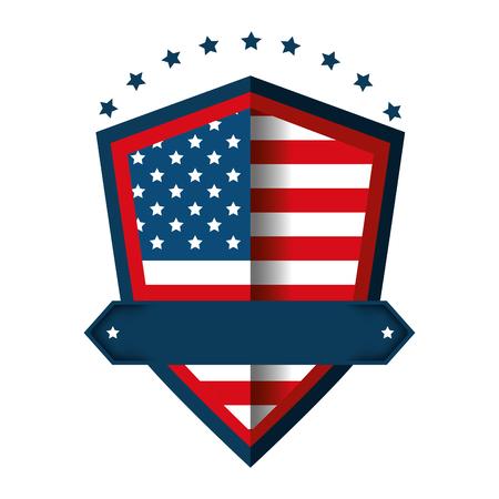 Illustration pour United states of america emblematic shield vector illustration design - image libre de droit