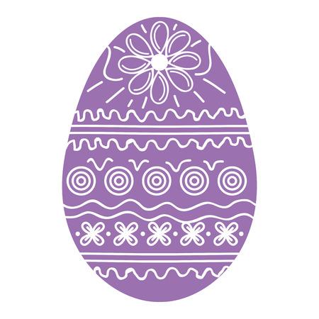 Illustration for Easter egg decoration vector illustration design - Royalty Free Image