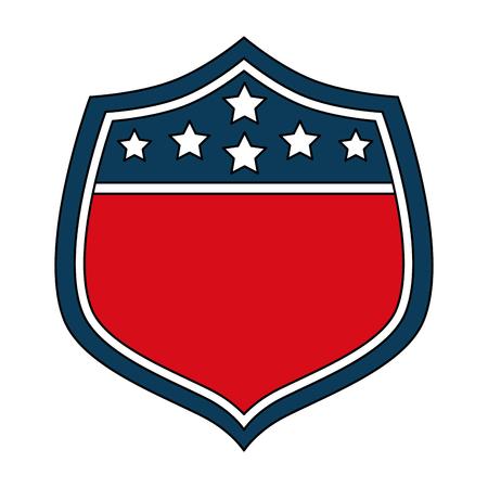 Illustration pour USA shield symbol vector illustration. - image libre de droit