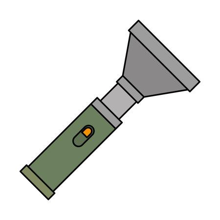 Illustration pour military flash light equipment vector illustration design - image libre de droit