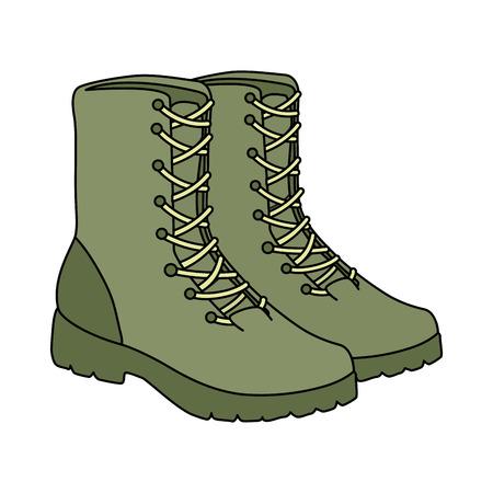 Ilustración de military boots equipment icon vector illustration design - Imagen libre de derechos