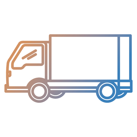 Illustration pour delivery service truck isolated icon vector illustration design - image libre de droit