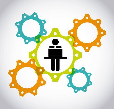 Ilustración de collaborative teamwork design, vector illustration eps10 graphic  - Imagen libre de derechos