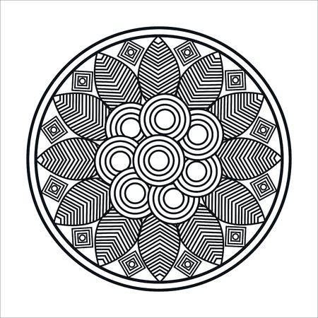 Illustration pour mandale monochrome art icon vector illustration design - image libre de droit
