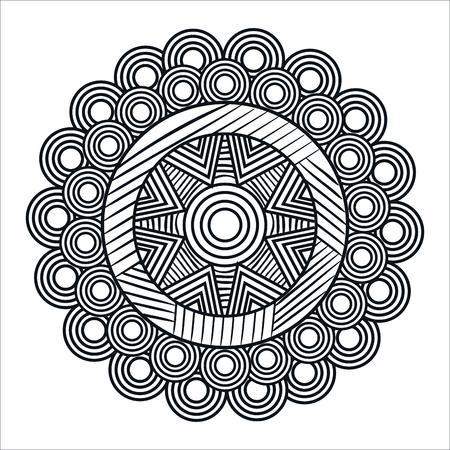 Illustration for mandale monochrome art icon vector illustration design - Royalty Free Image