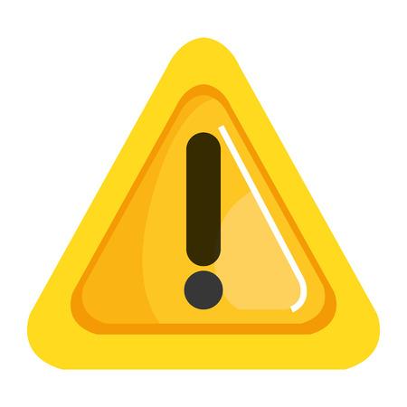 Ilustración de Alert sign triangle icon illustration design. - Imagen libre de derechos