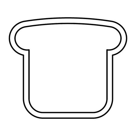 Ilustración de A bread toast vector illustration design - Imagen libre de derechos