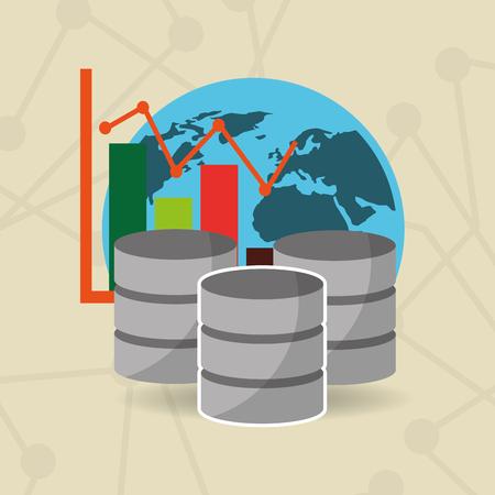 Illustration pour Global network data server - image libre de droit