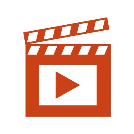 Ilustración de film movie clapper board image vector illustration - Imagen libre de derechos