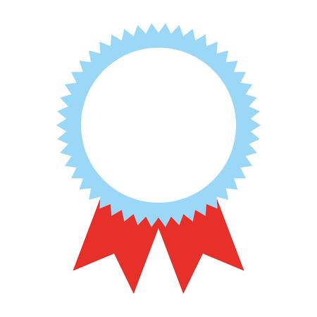 Illustration for Rosette award medal success image vector illustration. - Royalty Free Image