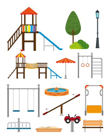 Illustration for Park with kid zone scene vector illustration design - Royalty Free Image