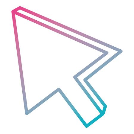 Illustration pour Arrow mouse cursor icon vector illustration design - image libre de droit