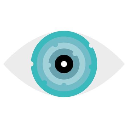 Illustration pour Eye with electric circuit vector illustration design - image libre de droit