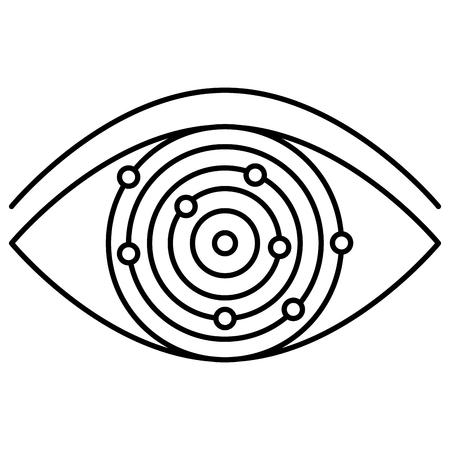 Ilustración de eye with electric circuit vector illustration design - Imagen libre de derechos