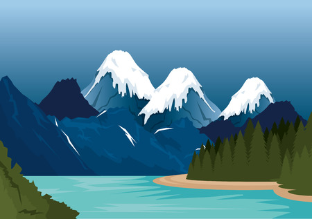 Illustration pour Canadian landscape scene icon vector illustration design - image libre de droit