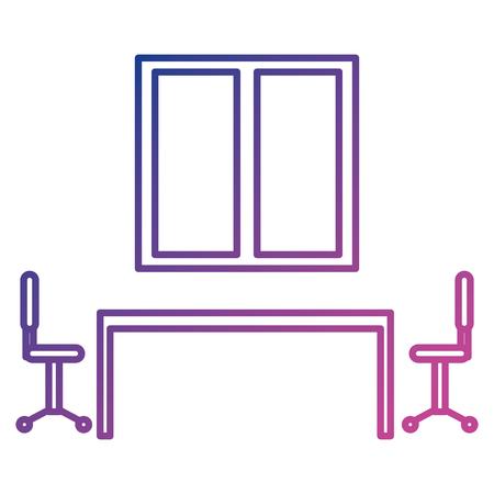Illustration pour board room business meeting scene vector illustration design - image libre de droit