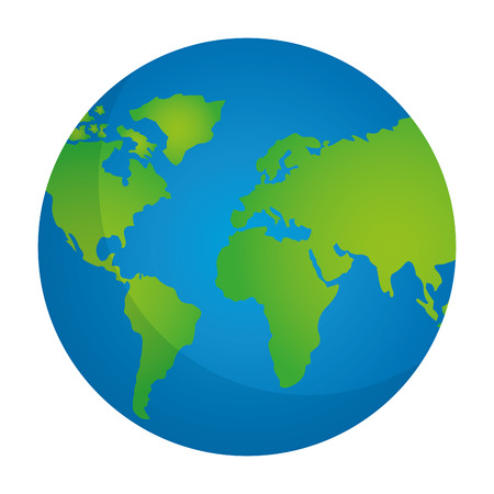 Illustration for globe map world location geography vector illustration  - Royalty Free Image