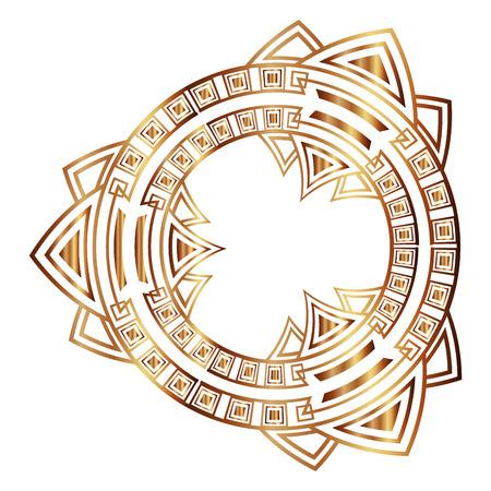 Ilustración de art deco frame vintage ornament abstract motif - Imagen libre de derechos