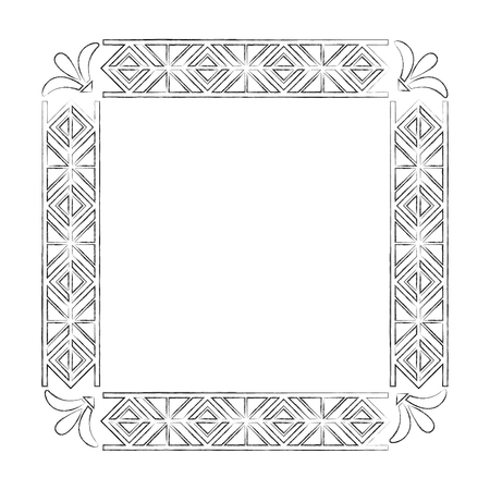 Illustration for square victorian frame isolated icon vector illustration design - Royalty Free Image