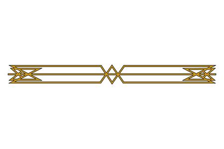 Ilustración de victorian line border style vector illustration design - Imagen libre de derechos