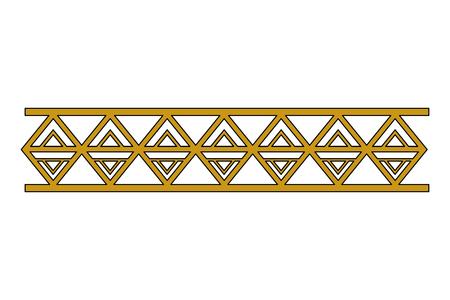 Illustration for victorian line border style vector illustration design - Royalty Free Image