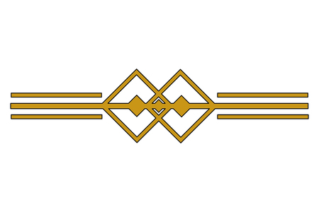 Illustration pour victorian line border style vector illustration design - image libre de droit