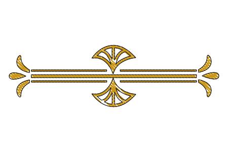 Illustration for border ornate gold decoration vintage vector illustration - Royalty Free Image