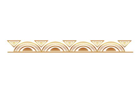 Illustration pour victorian line golden border style vector illustration design - image libre de droit