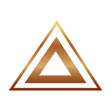 Ilustración de triangle golden victorian style vector illustration design - Imagen libre de derechos