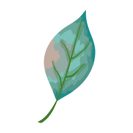 Ilustración de leaf single decorative icon vector illustration design - Imagen libre de derechos