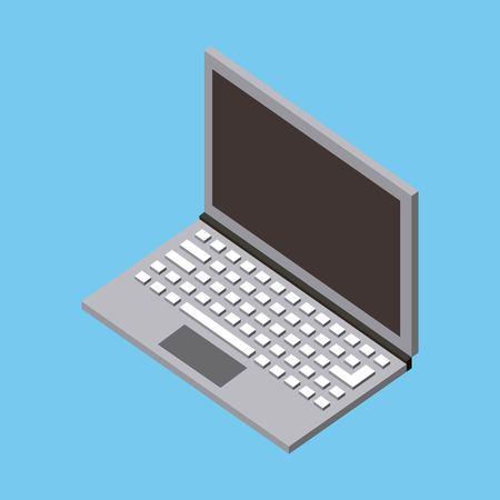 Ilustración de computing storage data blue background vector illustration isometric - Imagen libre de derechos