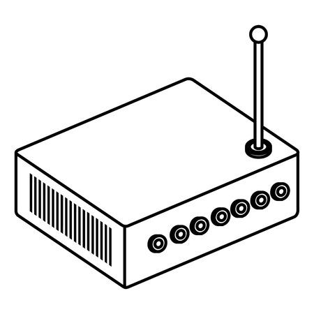 Ilustración de router device isometric icon vector illustration design - Imagen libre de derechos