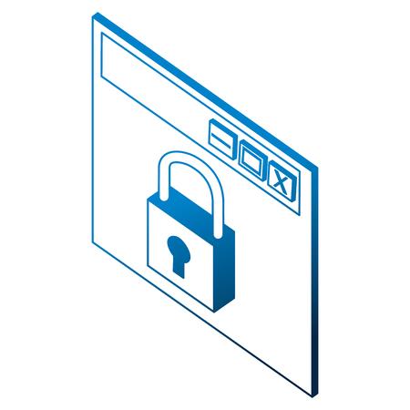 Ilustración de website cyber security protection information vector illustration - Imagen libre de derechos