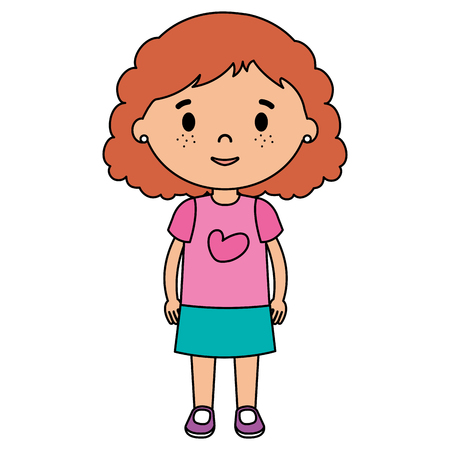 Illustration for little girl daughter character vector illustration design - Royalty Free Image