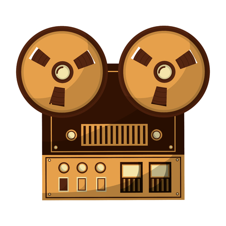 Ilustración de old video camera retro style vector illustration design - Imagen libre de derechos