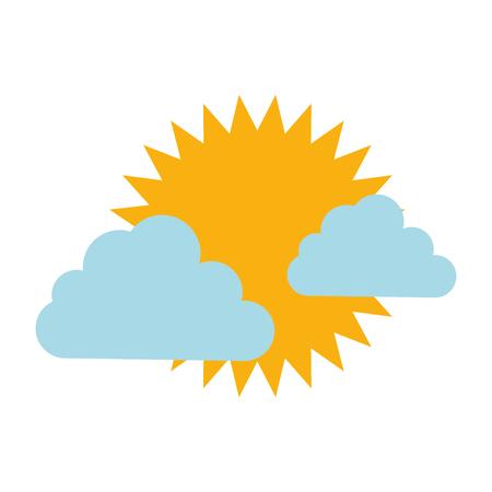 Illustration pour climate cloud with sun vector illustration design - image libre de droit