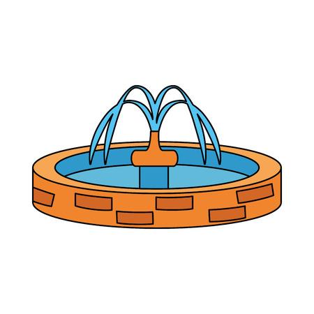 Ilustración de park sink water icon vector illustration design - Imagen libre de derechos