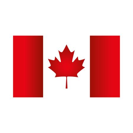 Illustration pour canadian flag emblem icon vector illustration design - image libre de droit