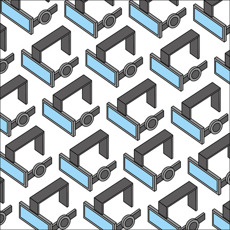 Illustration pour virtual reality 3d goggles headset background vector illustration - image libre de droit