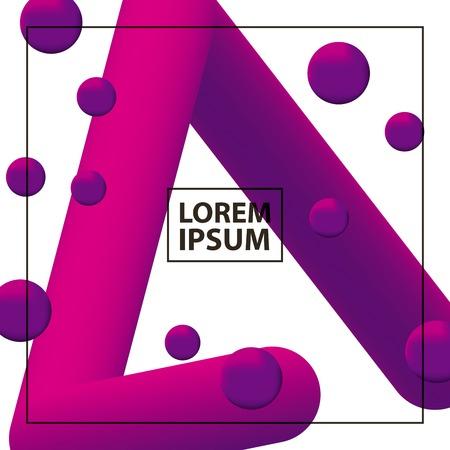 Ilustración de fluid abstract background line with purple neon bubbles vector illustration - Imagen libre de derechos